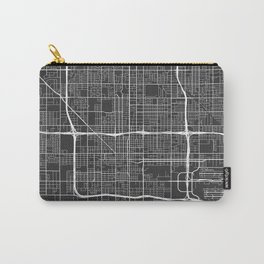 Phoenix Map, USA - Gray Carry-All Pouch