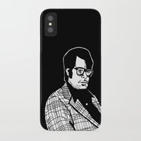 stephen king iPhone & iPod Cases featuring Stephen King by Corinne Halbert