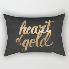 Heart of Gold Rectangular Pillow
