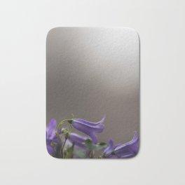 Purple Campanula Flowers Bath Mat