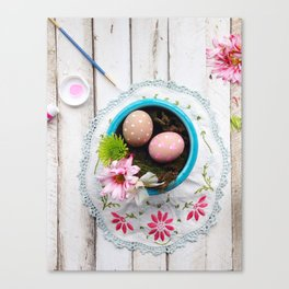 Painted Eggs  Canvas Print