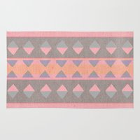 montana Area & Throw Rugs featuring Montana Weave by The Velvet Owl Design Studio