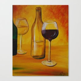 A Fine Time for Wine Canvas Print