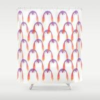 penguin Shower Curtains featuring Penguin by Alexandra Duma D.