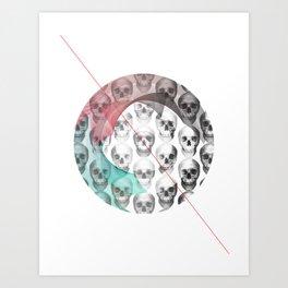 Anti-Skull Art Print