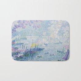 Paul Signac - The Port of Rotterdam Bath Mat