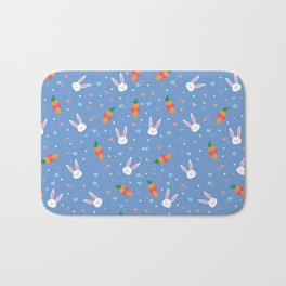 Bunny Loves Carrots Bath Mat