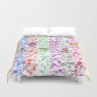 digimon Duvet Covers featuring Digimon 15th Anniversary by AbigailC