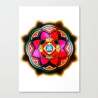 sacred geometry Canvas Prints featuring Sacred by Sircasm
