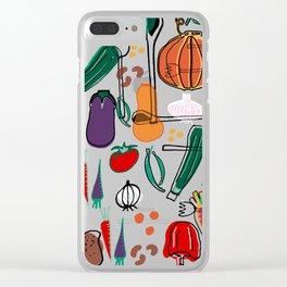 fall veggies purple Clear iPhone Case