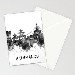 Kathmandu Nepal Skyline BW Stationery Cards
