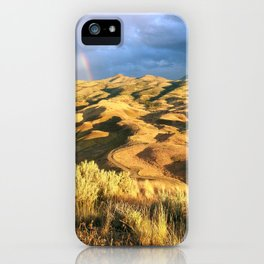 An intense rainbow in the painted hills iPhone Case