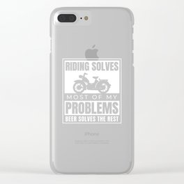 Motorcycle Bike Moped 125 ccm 50 Scooter Clear iPhone Case