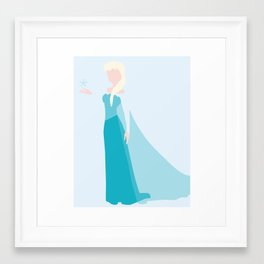Queen Elsa Framed Art Print