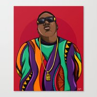 notorious Canvas Prints featuring  Notorious by McfreshCreates