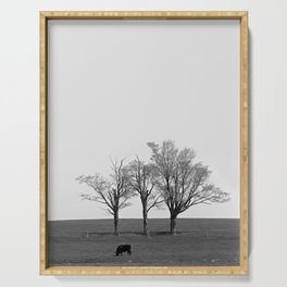 Three Trees and a Bull Serving Tray
