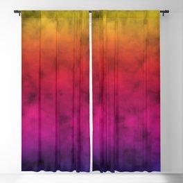 stunning multicolored rainbow clouded sky design Blackout Curtain