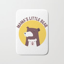 Mama's Little Bear Mother and Her Cub Bath Mat