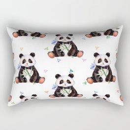 Cute panda bamboo shoots pattern Rectangular Pillow