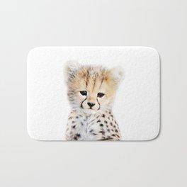 Baby Cheetah Portrait Bath Mat