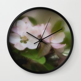 Misty Blossoms Wall Clock