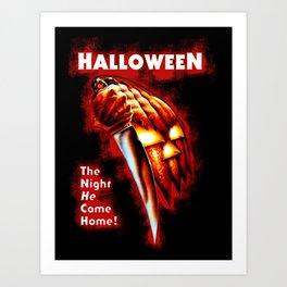 HALLOWEEN - The night he come home Art Print