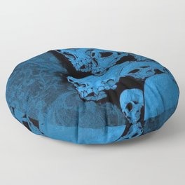 Blue skull  pattern Floor Pillow