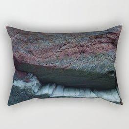 Natural Ocean Weathered Rock Texture Rectangular Pillow