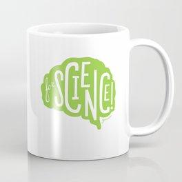 For Science! Brain Green Coffee Mug