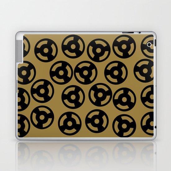 Discs Black on Gold Laptop & iPad Skin