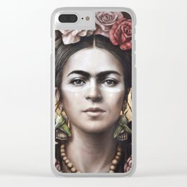 Hommage a Frida 5 Clear iPhone Case