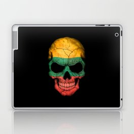 Dark Skull with Flag of Lithuania Laptop & iPad Skin