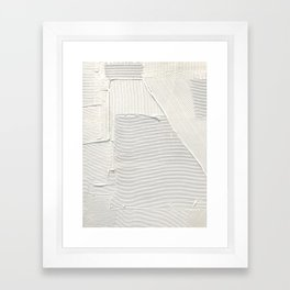 Relief [2]: an abstract, textured piece in white by Alyssa Hamilton Art Framed Art Print