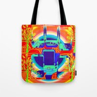 technology Tote Bags featuring technology & Nature by Kathead Tarot/David Rivera