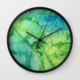 Abstract: One Road Out Wall Clock