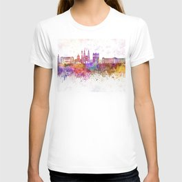 San Salvador skyline in watercolor background T-shirt