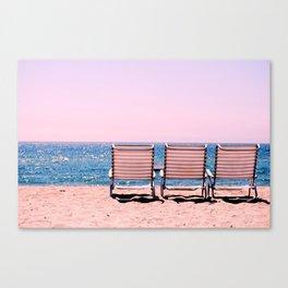 Solo Beach View Canvas Print