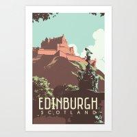 edinburgh Art Prints featuring Edinburgh by bonggg
