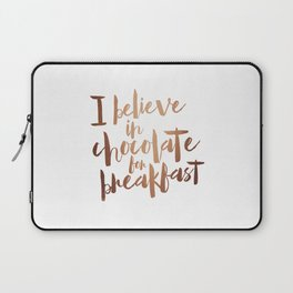 i believe in chocolate Laptop Sleeve