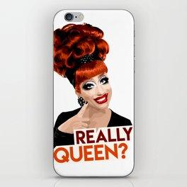 """""""Really, Queen?"""" Bianca Del Rio, RuPaul's Drag Race Queen iPhone Skin"""