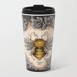 Crystal bumblebee Metal Travel Mug
