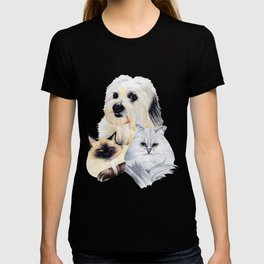2 Cats and a Pup T-shirt