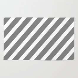 Grey Diagonal Stripes Rug