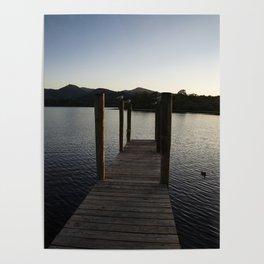 derwentwater jetty sunset Poster