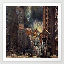 Mother Of Dragons Robot Art Print