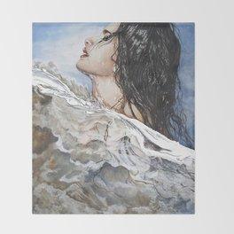 Head Above Water Throw Blanket