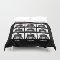 dalek Duvet Covers featuring Expressions Of The Dalek by Duke Dastardly