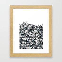 Skull Pattern Framed Art Print
