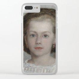 Mademoiselle Romaine Lascaux Clear iPhone Case