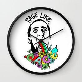Rage Like Cage Wall Clock